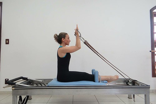 Reformer Pilates machine